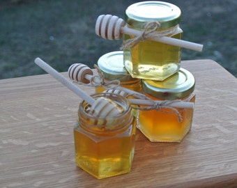 Rustic Chic Wedding Honey Favors,  24 Jars Filled FRESH With Raw Natural HONEY & Safety Sealed