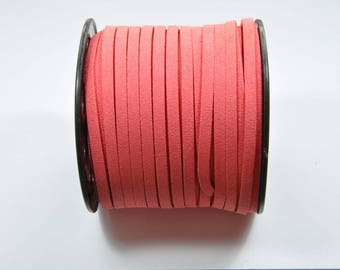 CO60 - 3 meters of salmon pink suede cord
