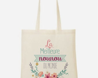 """Tote bag nanny """"The best Nanny in the world"""""""