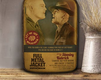 Full metal Jacket, Stanley Kubrick, Wooden plaque