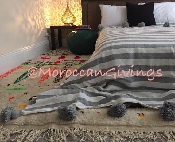 Marokkanische Decken marokkanische pom pom decke mit pom pom werfen