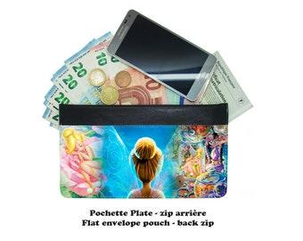 Zip envelope pouch - tinkerbell fée clochette - #008