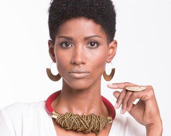 Hoop earrings, Boho hoop tribal earrings, African earrings, african jewelry, ethnic earrings, boho chic earrings, boho jewels, boho earrings