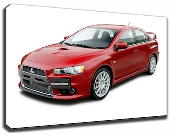MITSUBISHI LANCER Evolution Canvas/Poster Wall Art Pin Up HD Gallery Wrap  Room Decor Home