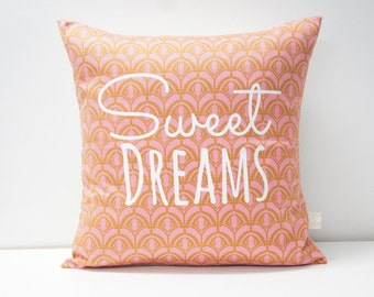 Sweet Dreams Pillow Cover, 20x20, coral plumes