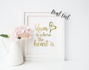 Foil print, Gift for Mom, gold foil print, Mothers Day, Mum gift, Mom quote, wall art print, foil print, wall art, typography, quote