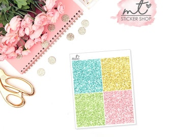Mermaid Glitter Headers || 28 Planner Stickers || Erin Condren Life Planner, Happy Planner