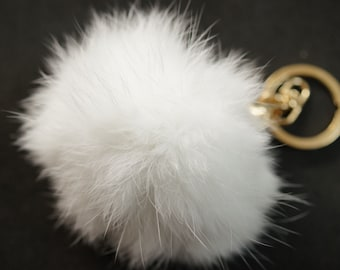 POMPON IN FUR white 6m