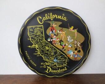 Vintage '50s/'60s California DISNEYLAND Souvenir Tray