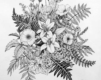 An Ode to Flowers Coloring Page