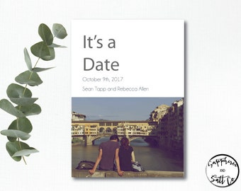 Save The Date Card - Contemporary Save The Date - Photo - Save The Date Design - Save the Date Card Wedding - Save the date announcement