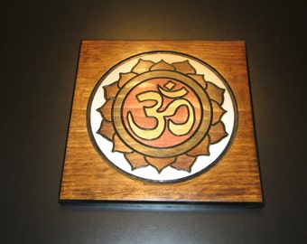 Chi Rho Wood Engraved Painting Monogram Of Christ Wall