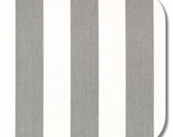 Premier Prints Canopy Stripe in Grey Storm White Twill Home Decor fabric, 1 yard