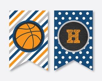 Instant Download, Basketball Party Banner, Basketball Happy Birthday Banner, Basketball Printable, Basketball Banner, Chalkboard (CKB.77)