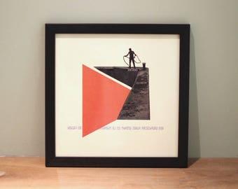 Docker - Digital Collage Art Print Poster