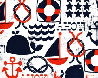 Ahoy Matey Premium Cotton Fabric by Michael Miller