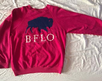 Vintage Buffalo New York sweater/sweatshirt - pink