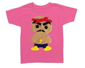 Rad Rapper - Red Bandana - Kids T-Shirt [RASPBERRY]