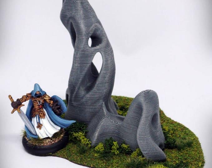"""Wargame Terrain - Spike Deluxe (""""Ghost Stones"""") – UNPAINTED kit - Miniature Wargaming & RPG terrain"""