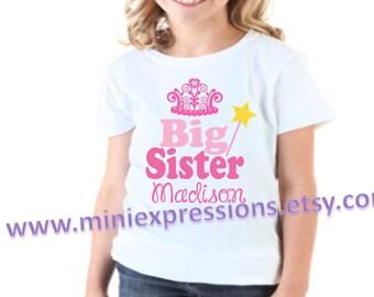 Princess BIG SISTER  shirt Personalized