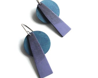 Tropical Geometric earrings, bright colored earrings, summer jewelry, beach inspired earrings, art jewelry, contemporary jewelry