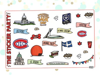 Montreal Planner Stickers