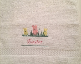 Embroidered Easter Washcloth/Wash Cloth