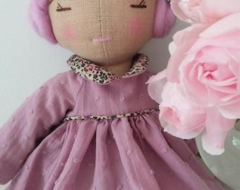 Linen Rose doll