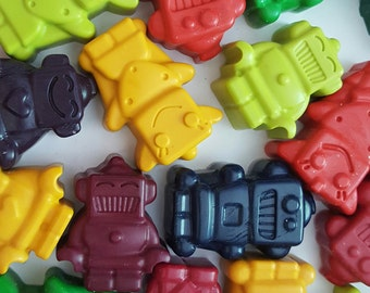 Robot Crayons, Set of 12, Birthday Party, Kids Gifts, Kids Coloring