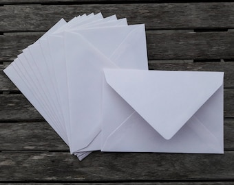 10 envelopes, Cuverts, white envelopes, envelopes, White, B6