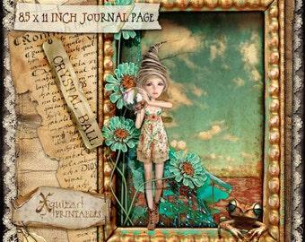 Crystal Ball - Art journal Page