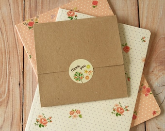 Plain KRAFT NO Glue CD sleeve envelopes