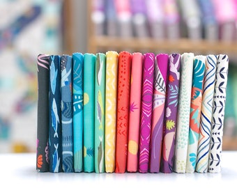 Sirena - Fat Eighth Bundle - by Jessica Swift for Art Gallery Fabrics (16 pieces)