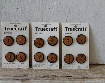 Vintage Faux Bois Button Collection