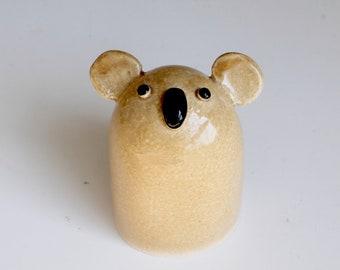 Koala Pottery, Ceramic Koala Sculpture, Koala bear, Handbuilt Pottery, ceramic sculpture