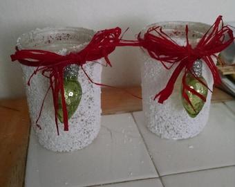 Handmade candle holders set of 2
