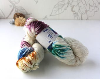 Hand-dyed Yarn, Self-striping Yarn, 100g Skein, Variegated Merino/Nylon Yarn, Fingering Weight Yarn, Knitting Gift, Birthday Gift