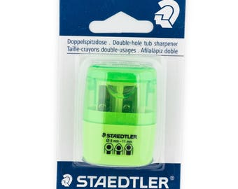 Staedtler 512 - double-hole pencil sharpener with container