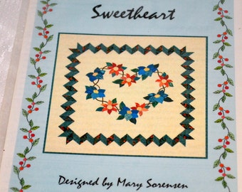 SweetHeart Applique Quilting Pattern   Uncut Complete