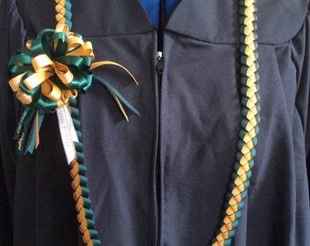 Cal Poly SLO Braided Graduation Ribbon Lei, Braided Ribbon Lei