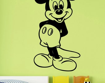 Mickey Mouse Wall Decal Vinyl Sticker Disney Cartoon Art Decorations for Home Kids Boys Baby Room Bedroom Nursery Removable Decor mimo2