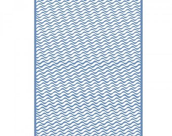 New! Sizzix Textured Impressions Plus Embossing Folder for the Big Shot Plus - Olas (Waves) 662960