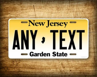 Personalized New Jersey License Plate Custom State Auto Tag 6x12 NJ Garden State Aluminum Sign