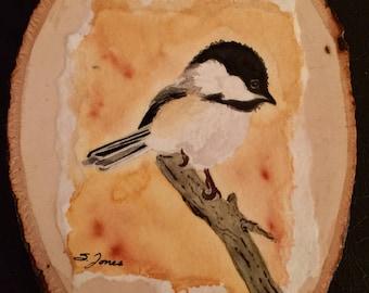 Watercolor Chickadee, Bird Art, Bird Painting, Wildlife Art