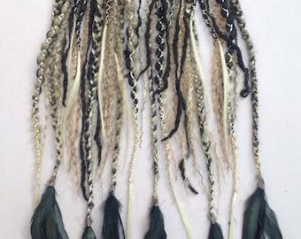 Ash Blonde Goth clip in falls set - READY MADE