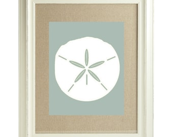 Beach Decor / Sand Dollar Digital Print / Wall Art / Modern Beach Prints / Nautical Beach Print / Ocean Inspired Art / Home Decor