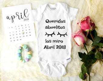 Spanish Baby Announcement Onesie