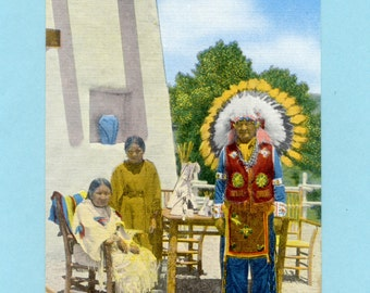 Vintage Greetings From Pueblo - Indians In Scenic Colorado - Linen Postcards