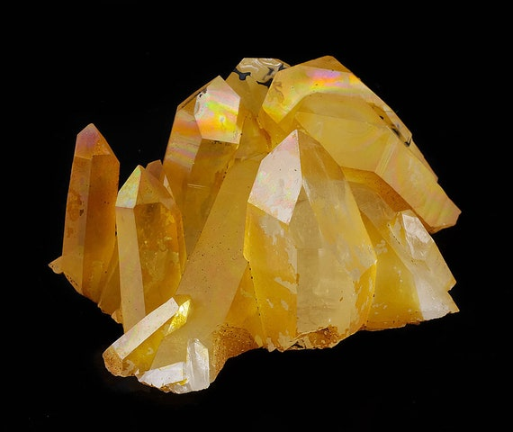 3 Inch Rainbow Hematite Iron Coated Quartz from Collier Creek, Arkansas