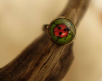 Dancing Lady bug ring